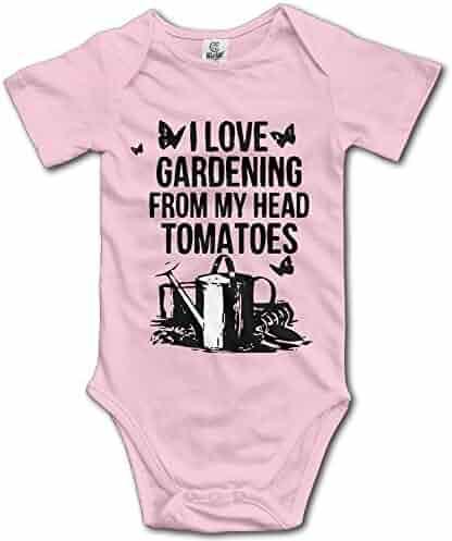 84da9528f I Love Gardening From My Head Tomatoes Newborn Infant Cute Baby Onesies  Clothing