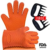 Barbecue Gloves & Pulled Pork Claws Set  Silicone Heat Resistant Grilling Accessories