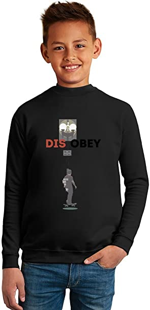 Disobey Skater Superb Quality Boys Sweater by BENITO CLOTHING - 50% Cotton & 50%