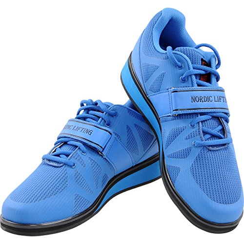 Nordic Lifting Powerlifting Shoes for Heavy Training - Best Men's Squat & Weightlifting Shoe - Megin 1 Year Warranty (9 US)
