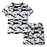 BIBNice Toddler Boys 2 Pieces Short Sets Cotton Pajamas Camouflage Size 3t