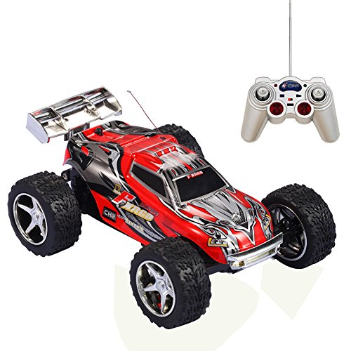 Remote Control Car Kawo 1 32 Scale High Speed Off Road Abc Channel 5 Speed Transmission 6 Position Control Electric Monster Trugg Toys Red