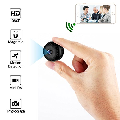 WIFI Hidden Camera Spy Camera HoHoProv HD 1080P Wireless Portable Security Camera With Night Vision and Motion Detection