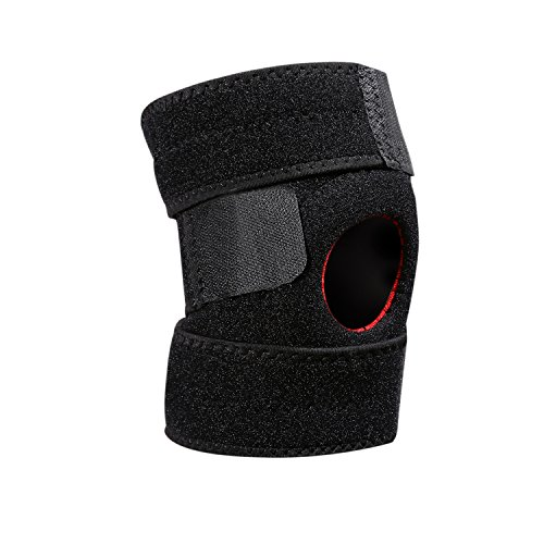 Relief Sleeve (Knee Sleeve , Knee Brace Best Compression for Pain Relief, Injury Recovery Open-Patella Stabilizer with Adjustable Strapping & Extra-Thick Breathable Neoprene Sleeve Knee Support)