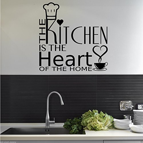 Beau KITCHEN HEART OF THE HOME Wall Art Sticker Quote Decal Mural Stencil  Transfer 2: Amazon.co.uk: Kitchen U0026 Home