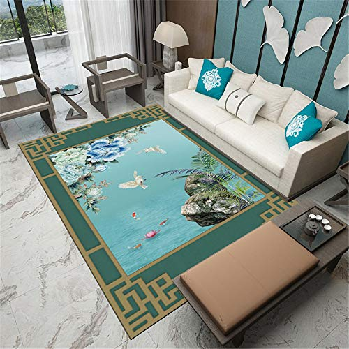 - Best Seller 2 Pieces Modern Chinese Bedroom Carpets Home Living Room Coffee Table Ethnic Wind Plant mats A1 50X80CM