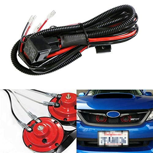 Basde 12V Dual Trumpet Air Horn Wiring, Horn Wiring Harness Relay Kit for Car Truck Grille Mount Blast Tone Horns