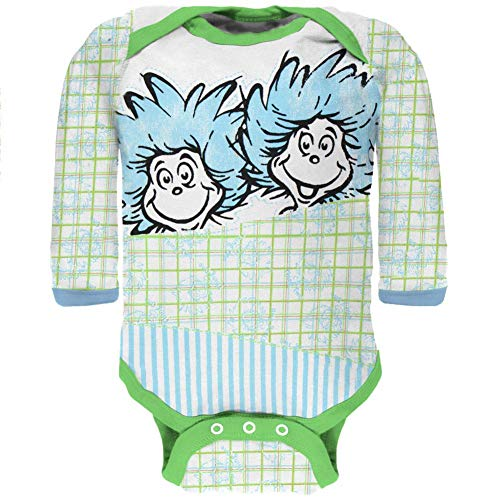 Dr. Seuss - Fun Things Long Sleeve Infant Bodysuit - 0-3 -