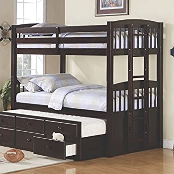 Amazon Com Kings Brand Furniture Wood Twin Size Bunk Bed