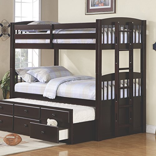 Coaster Furniture 460071 Transitional Bunk Bed, Cappuccino