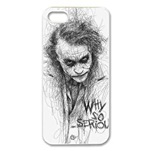 The Batman Joker Why So Serious Image Snap On Hard Plastic Iphone 5 5S Case