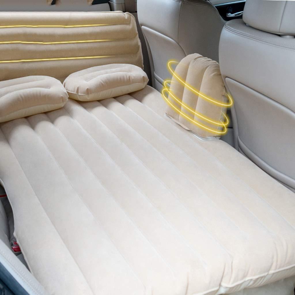 キャンプ旅行のためのSUVの専用のエアベッド、眠っている休息のための防水インフレータブル拡張マットレス、135×88×34cm (色 : ベージュ)  ベージュ B07QV1CBLQ