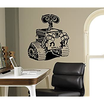 Amazon Com Wall E And Eva Wall Art Decal Disney Cartoons