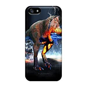 Cynthaskey Iphone 5/5s Hybrid Tpu Case Cover Silicon Bumper Battlefield 3 Dino Mode