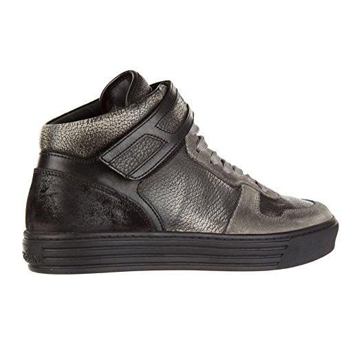 Grigio Hogan Nuove Alte Uomo Pelle Rebel Scarpe r206 Sneakers in r0qwxzr7A