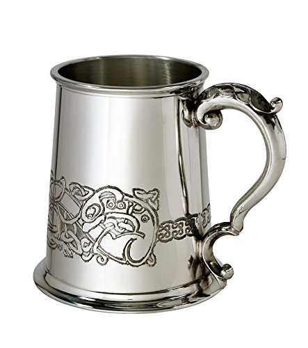 (Wentworth Pewter Celtic Dragon 1 Pint Pewter Tankard)