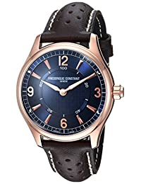 Frederique Constant Men's 'HSW' Swiss Quartz Stainless Steel and Leather Casual Watch, Color:Brown (Model: FC-282AN5B4)