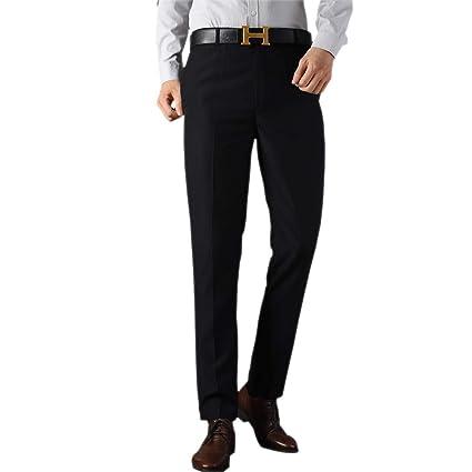 ZEVONDA Mens Suit Trousers - Leisure Straight Slim Fit ...