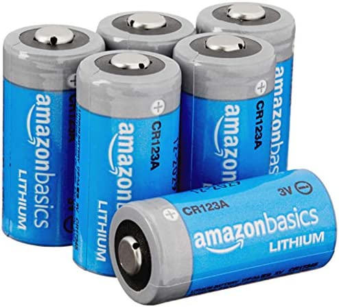 AmazonFundamentals Lithium CR123a 3 Volt Battery - Pack of 6