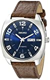 Seiko Men's SNKN37 Stainless Steel Automatic Self-Wind Watch with Brown Leather B