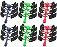 ZhangShi [3 Pair] No Tie Shoelaces, Reflective Elastic Lock Shoe Laces, One Size Fits All Adult and Kids Shoes