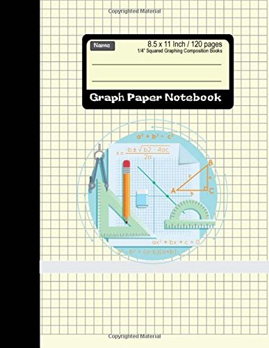 Graph Paper Notebook: Squared Graphing Composition Books 8.5 x 11 Inch 120 pages: Diary, Journal, Graph, Coordinate, Grid, Squared Spiral Paper, ... squares) (Math Science Journal) (Volume 1)