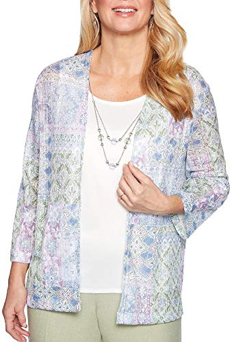 Alfred Dunner Women's South Hampton Patchwork Two for One Top ()