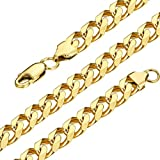 LOLIAS Gold-Plated Link Curb Chain Necklaces for Men 18-30 In