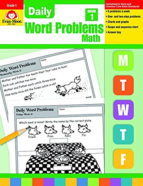 How To Make Every Grade More Like >> Daily Word Problems Grade 1 Evan Moor Marilyn Evans Don