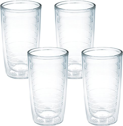 Tervis 4-Pack Tumbler, 16-Ounce, Clear -