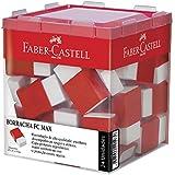 Borracha para Grafite Cinta Plástica Office Pequena, Faber-Castell OF/7024N, Branca, Pacote de 24
