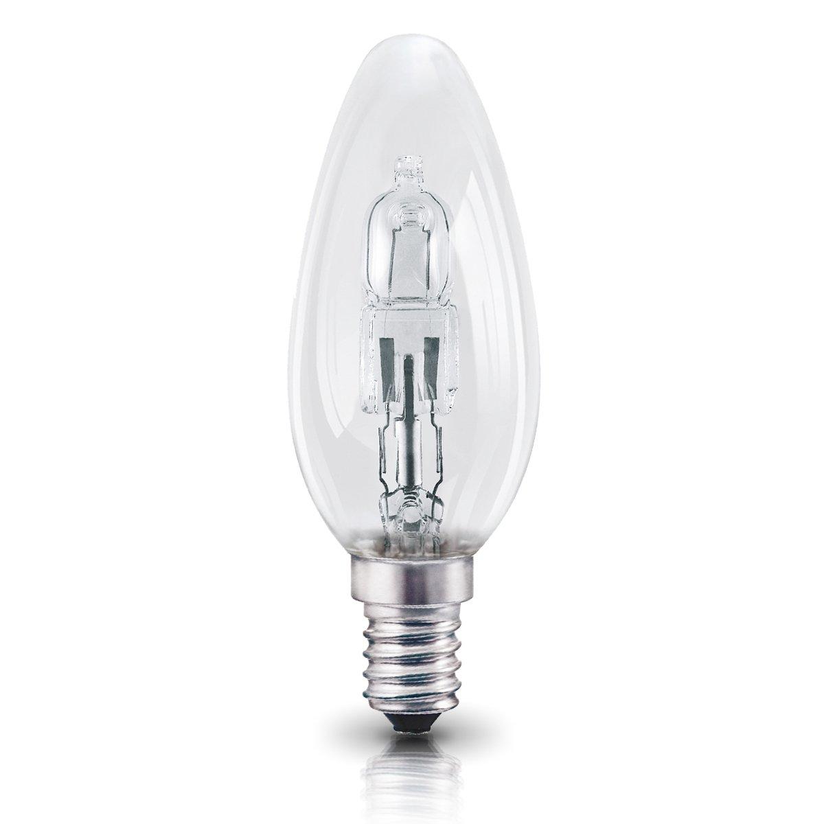 OSRAM Halogen Lampe E14 dimmbar Classic A /  20W - 25 Watt-Ersatz, Halogen Birne als Kerzenform / klar, warmweiß - 2700K, 5er-Pack Ledvance 4052899200371