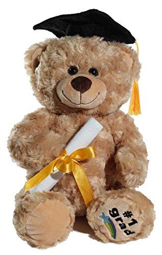Calplush Fuzzy Beige Graduation #1 Grad Bear Plush
