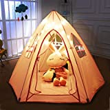 Large Princess Tent for Girls,Hexagon Shape,Foldable Pink Princess Catle Tent for Indoor Use by Labobbon(Not Included Light and Balls)