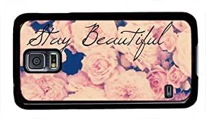 Floral Background Stay Beautiful Quote Theme Samsung Galaxy S5 i9600 Case