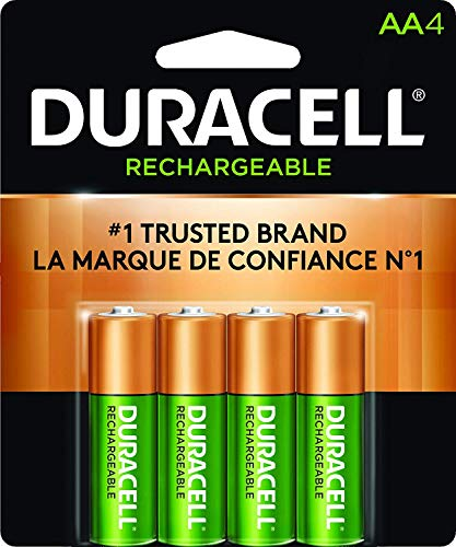 Duracell AA NiMH rechargeable blister pack, 4 per pkg. 2500mAh Aa Nickel Metal Hydride Batteries