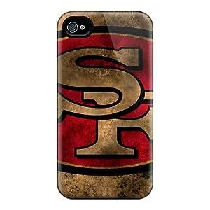 LavernaCooney Iphone 4/4s Protective Hard Cell-phone Case Unique Design Trendy San Francisco 49ers Series [EfR13299rTZI]