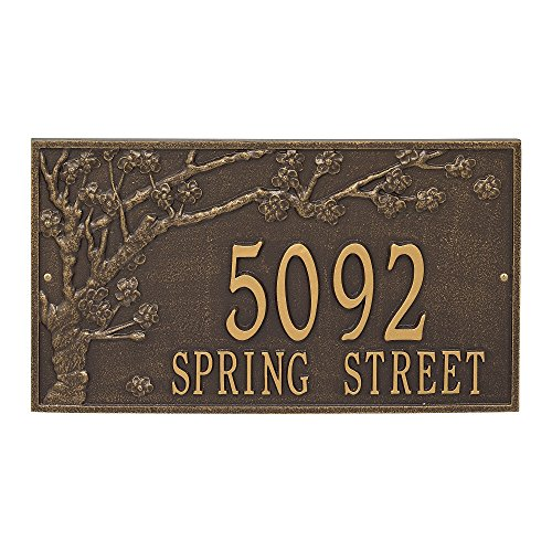 Custom Spring Blossom Estate Wall Address Plaque 20