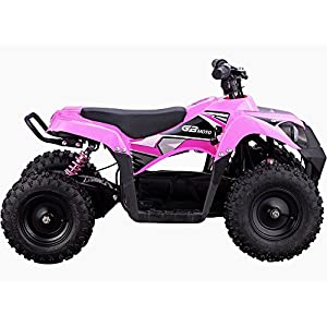 MotoTec 36v 500w ATV Monster v6 Blue Kids Children 36V Mini Quad ATV Dirt Motor Bike Electric Battery Powered, 5 Colors (Pink)