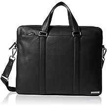 Calvin Klein Men's Bombe Leather Attache