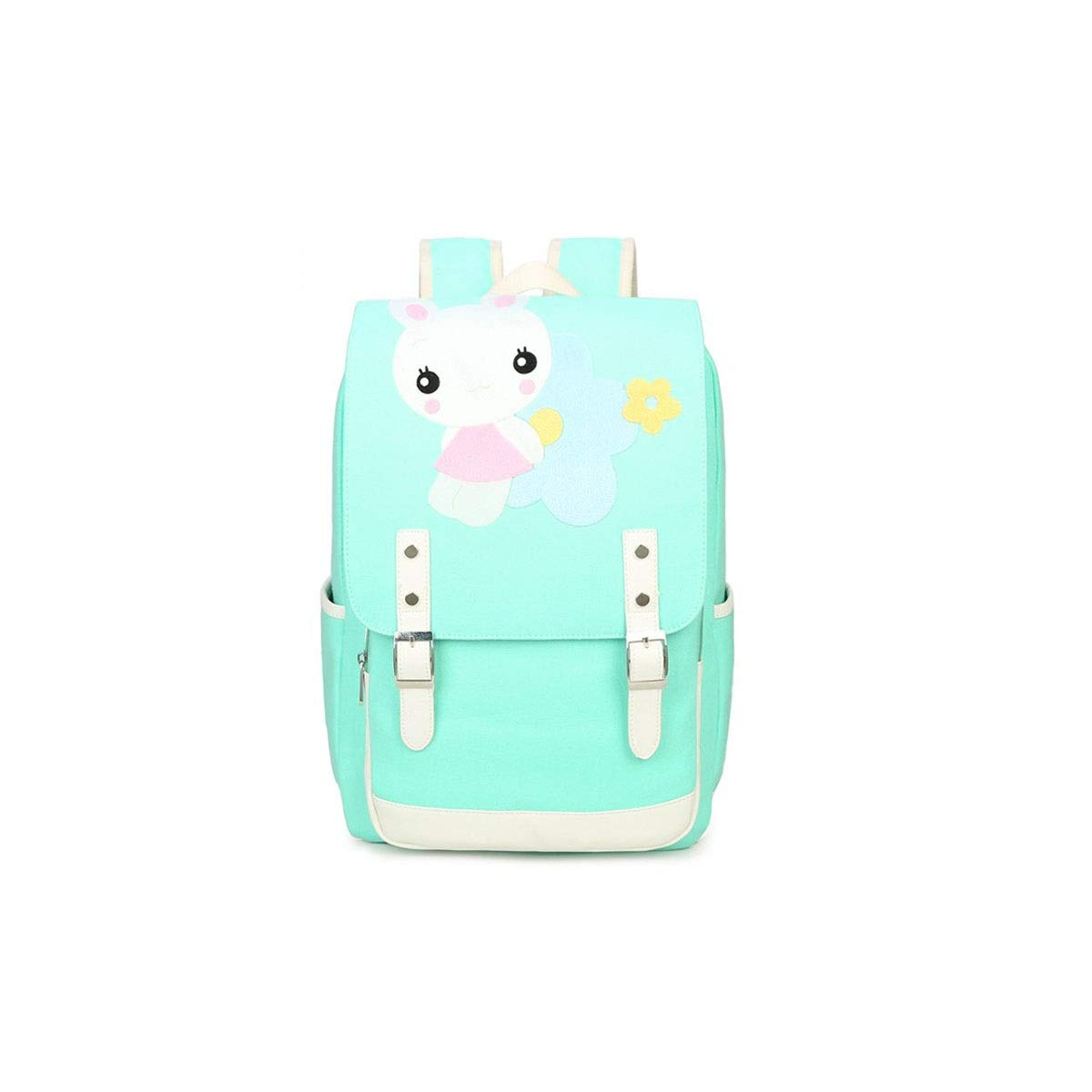 TONGBOSHI Simple Fashion Backpack, School Bag Primary School Student, Girl Leisure Travel Travel Backpack, Lightweight Backpack (Color : Green, Size : S)