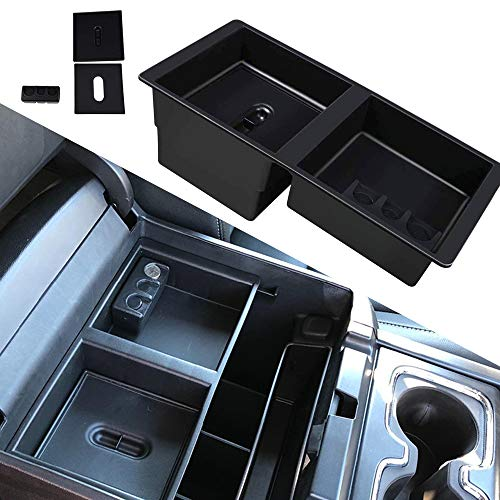 (Center Console Insert Organizer Tray Secondary Storage Box for 14-19 Silverado, Tahoe, Suburban, Sierra, Yukon, Escalate - Replaces GM Vehicles Factory OEM Part 22817343)