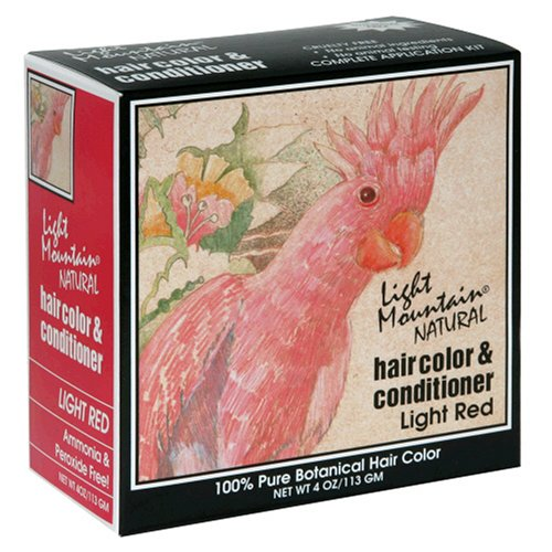 Light Mountain Natural Hair Color & Conditioner, Light Red, 4 oz (113 g) (Pack of 3) (Best Henna For Red Hair)