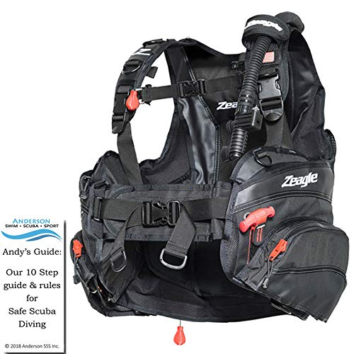 (Zeagle Halo BCD Size XXLarge - Buoyancy Compensator Jacket Style Ripcord Personal Fit System Diving Bundle Andersons Scuba Safety)