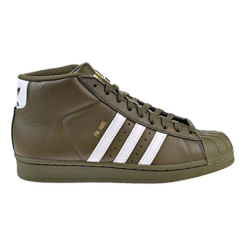 online store 4dd1f 5e352 adidas Originals Kids Unisex Pro Model (Big Kid) Olive Cargo White Gold 7 M  US Big Kid