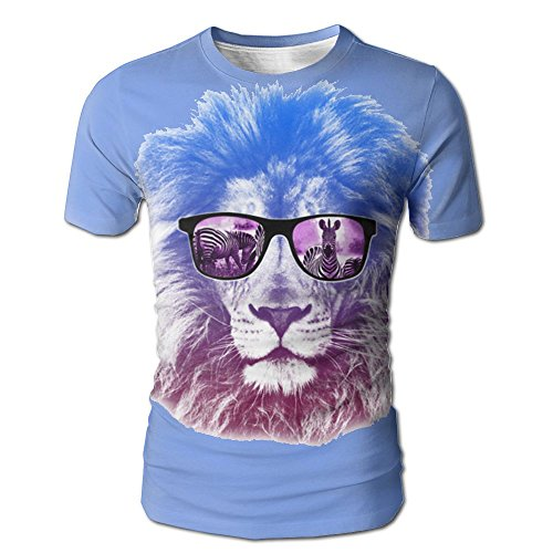 Men's Summer Cool Lion With Sunglasses Printed Short - To Where Geek Glasses Buy