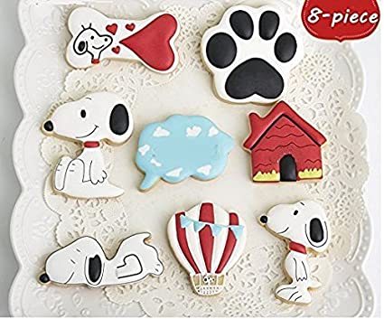 Astra Gourmet 8-Piece Stainless Steel Pet Dog Series Cookies Cutters Set for Kids, Fondant Mold, Mousse Cake Mold Birthday Cake Decoration Baking Tools