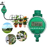 Boruit LCD Waterproof Digital Water Timer Automatic Watering Timer Electronic Garden Irrigation Controller