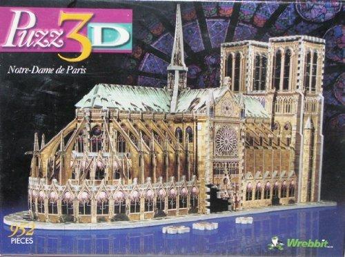 - Puzz 3d 952 pieces Jigsaw Puzzle Notre Dame de Paris Cathedral by Wrebbit Toys