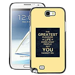 A-type Arte & diseño plástico duro Fundas Cover Cubre Hard Case Cover para Samsung Note 2 N7100 (Yellow Poster Inspiring You Life Moving)